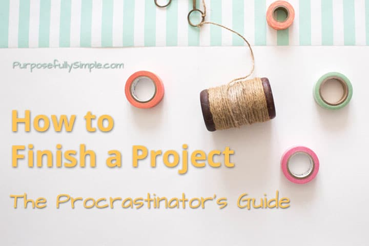 Wondering how to finish a project instead of just abandoning it like all the others? Here are some tips to help you stay on track.