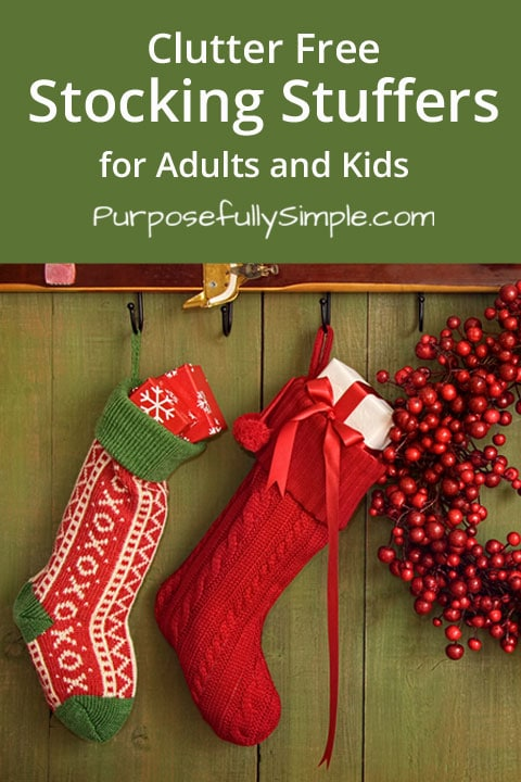 Are you looking for clutter free stocking stuffers for adults and kids? Check out these creative ideas for gifts that won't add to the clutter.
