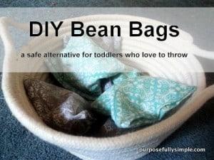 bean bags w words