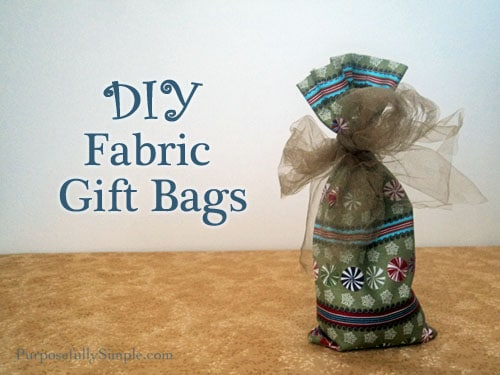 This fabric DIY gift bag is so easy to make and can be coordinated with your holiday decorations. Have a greener holiday with these fabric bags.