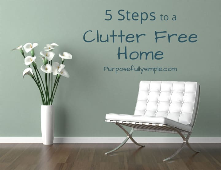 Hoping to declutter your home? See these five great ways to get rid of clutter for good and start living a simpler more meaningful life today.