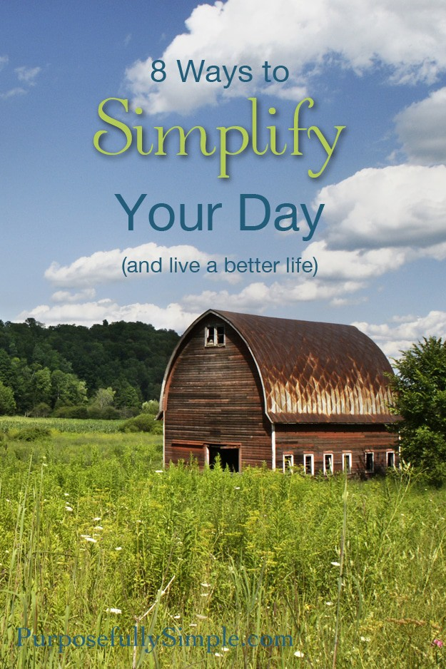 8 Ways to Simplify your day tall