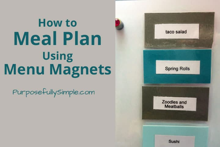 Wondering how to meal plan? Find out how easy it is using these awesome (and simple) menu magnets to plan your families weekly meals.
